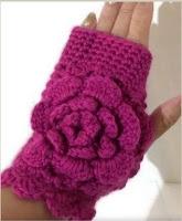 Woman's size, crochet, fuchsia merino, andrea designs handmade mittens, winter wear, must have gift, the fuchsia fingerless gloves