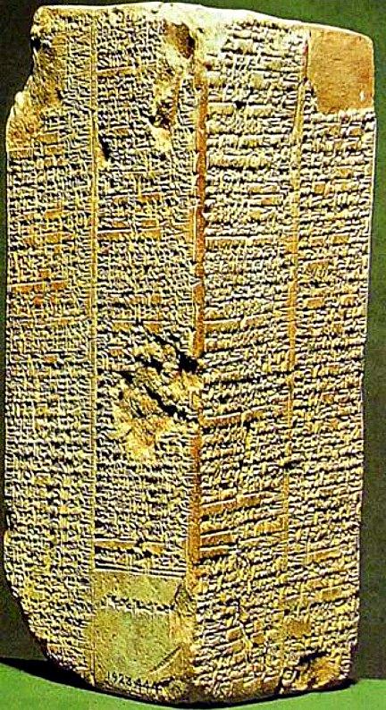 Prisma de Weld-Blundell, la más completa copia de la lista de los reyes sumerios. (c. 2000 a. C.) Museo Ashmolean de Arte y Arqueología, Oxford, Inglaterra.
