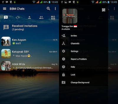 BBM Full Mod Android Apk v3.3.10.101 + Ganti Background dan Warna Sendiri