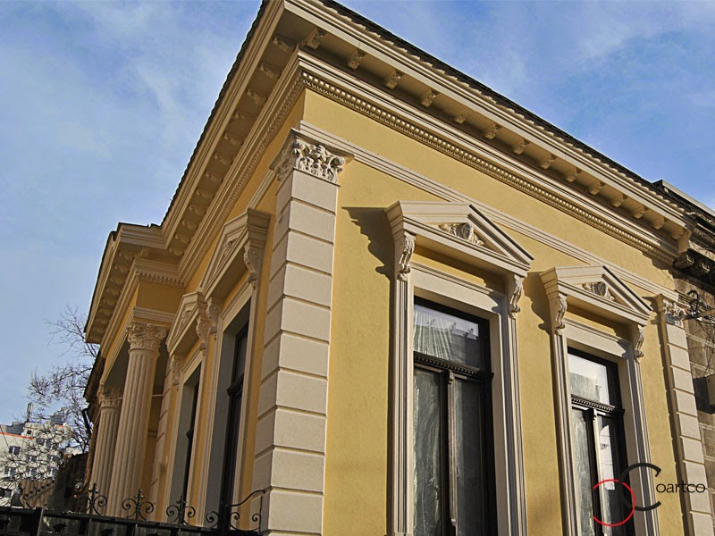 fatade case clasice, reabilitare fatade de case cu profile decorative din polistiren, refacere stocaturi