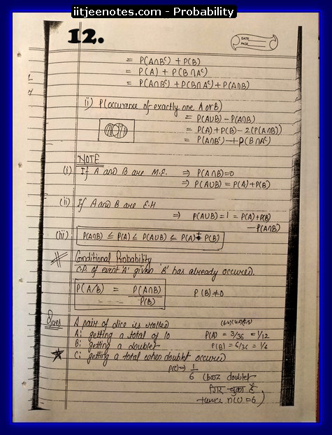 probability notes cbse2