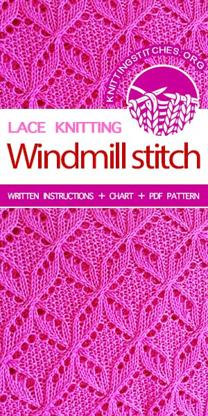 Knitting Stitches -- Learn how to knit lace stitch. We share the best Lace Knitting Pattern Free. #knittingstitches