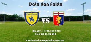 Data dan Fakta Liga Fantasia Serie A Gio 24 Chievo Verona vs Genoa Fantasi Manager Indonesia