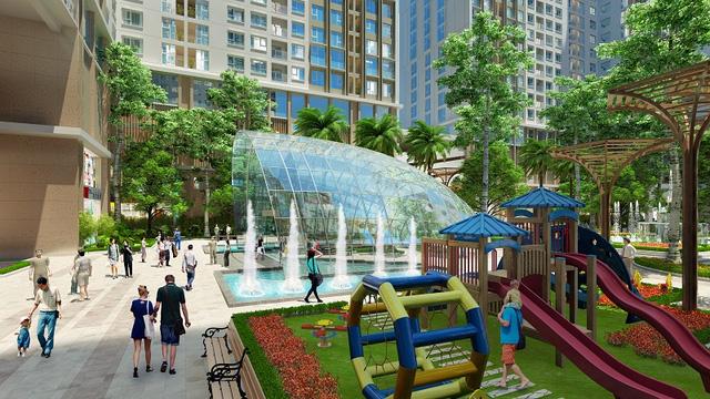 Phối cảnh khuôn viên chung cư Eco green city