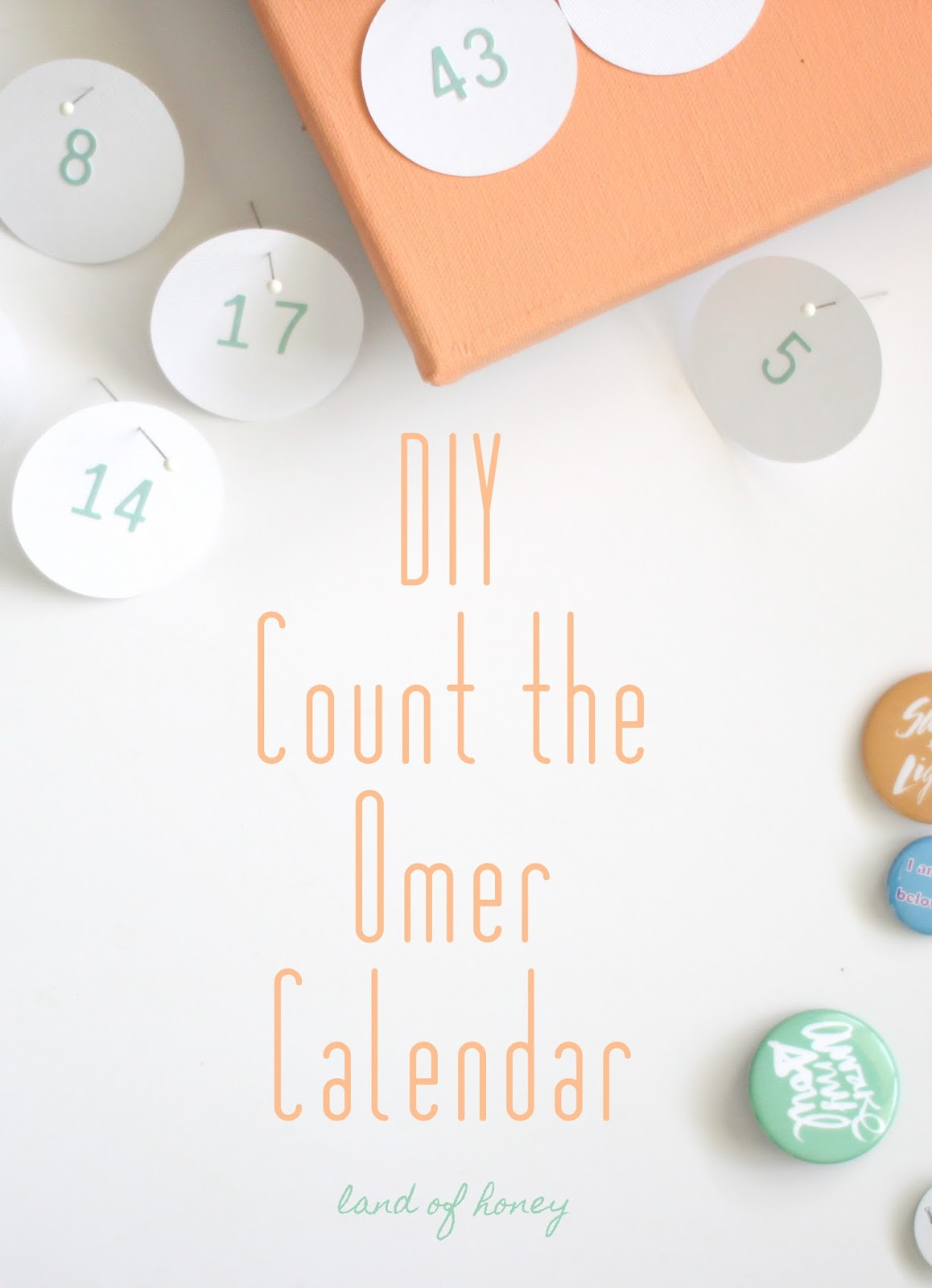 land of honey diy count the omer flair calendar