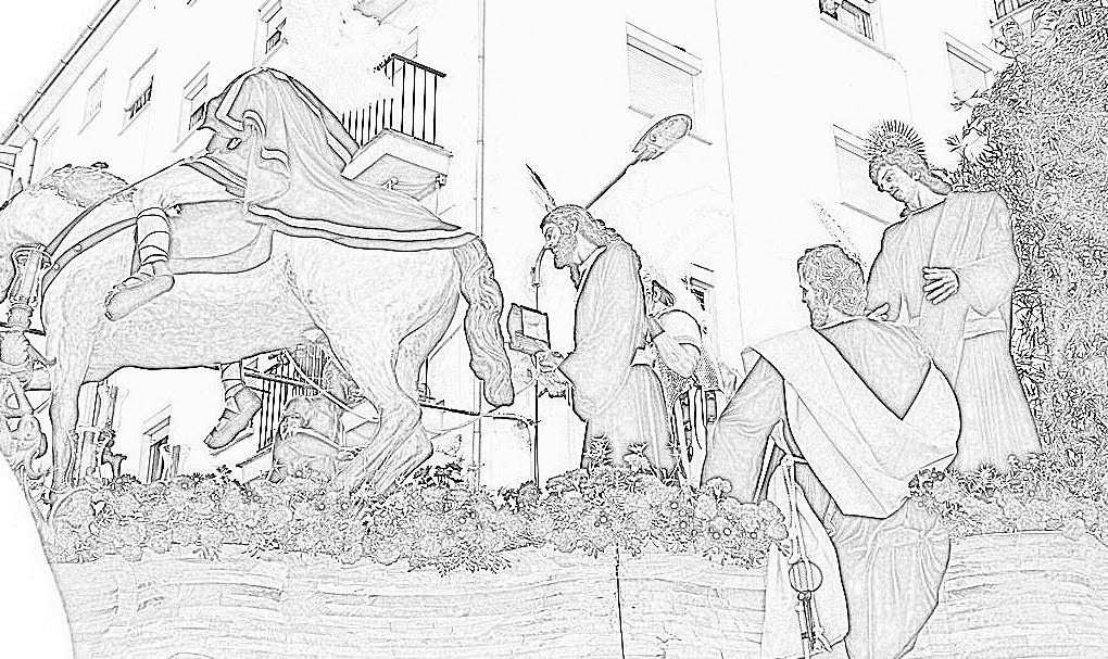Semana Santa Sevilla Colorear: COLOREA LA PASIÓN DE RONDARONDA COFRADE