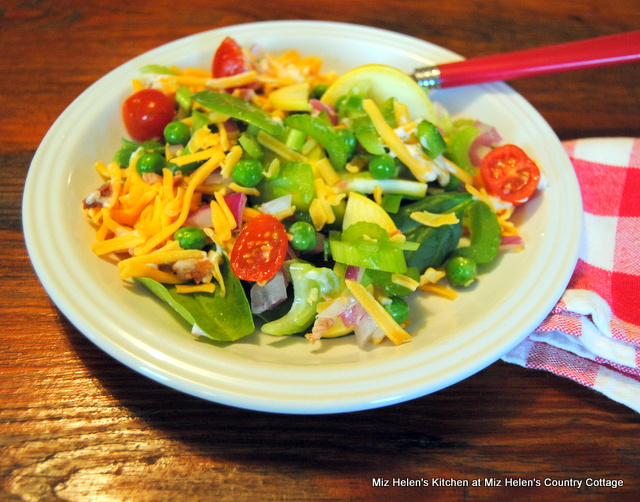 Layered Picnic Salad at Miz Helen's Country Cottage