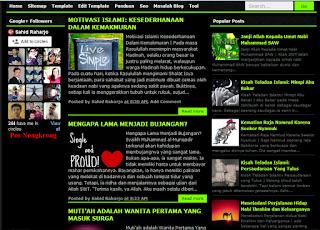 Download Template Seo 3 Kolom Hitam