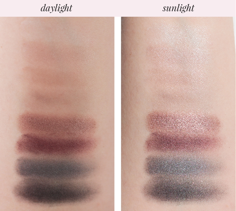 Rimmel London Magnifeyes eyeshadow palette swatches Grunge Glamour