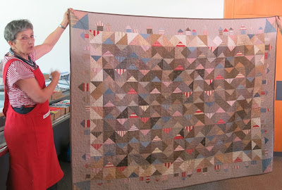 Quilt made by Edith Savioz - Patch Domino Orbe