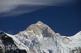Makalu in the Himalayas - the highest of the four eight-thousanders Moro climbed in winter