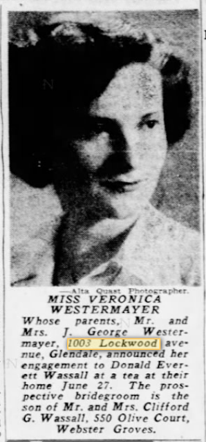 engagement notice 1948 for Veronica Westermayer, to Donald E. Wassall