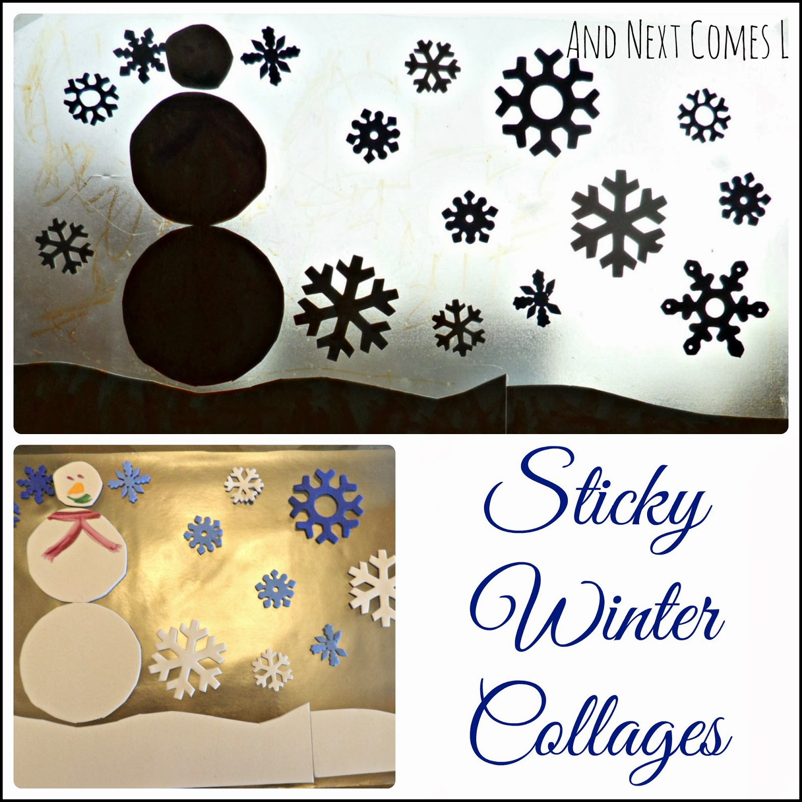 Sticky Winter Collages