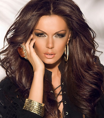 The bulgarian popfolk singer kamelia in a playboy