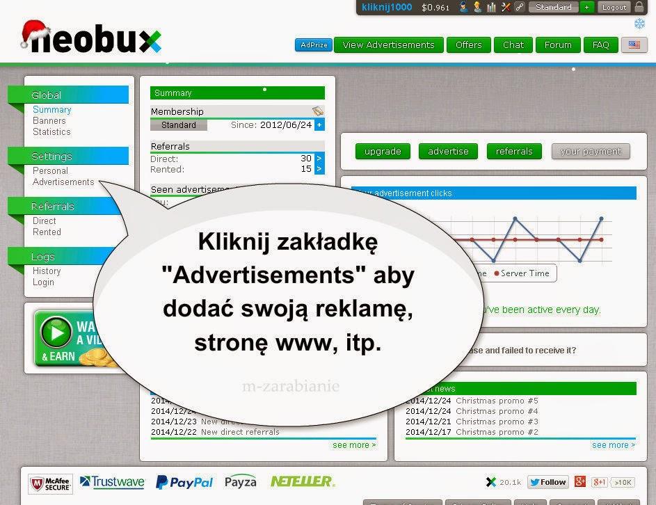 Jak dodać reklamę w Neobux ? Czy reklama jest skuteczna?