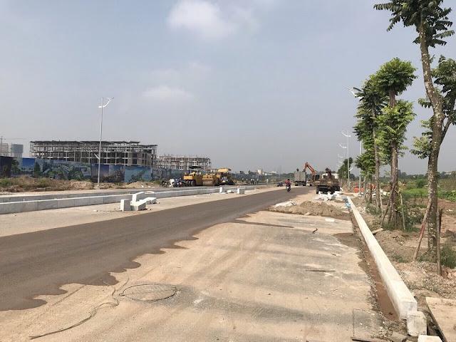 Quang cảnh tiến độ công trường Khai Sơn Town