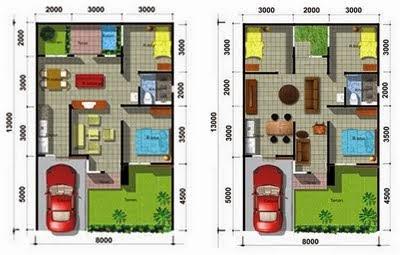 desain rumah minimalis 2 lantai type 50 - gambar foto