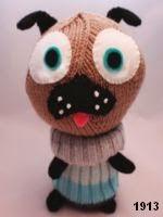 patron gratis perro amigurumi de punto, free knit amigurumi pattern dog