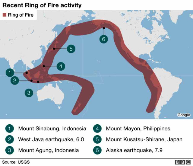 Volcanos, Earthquakes: the 'Ring of Fire' Explodes in Activity