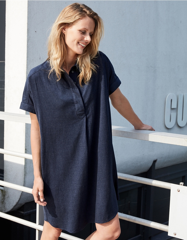 the white company relaxed shirt dress