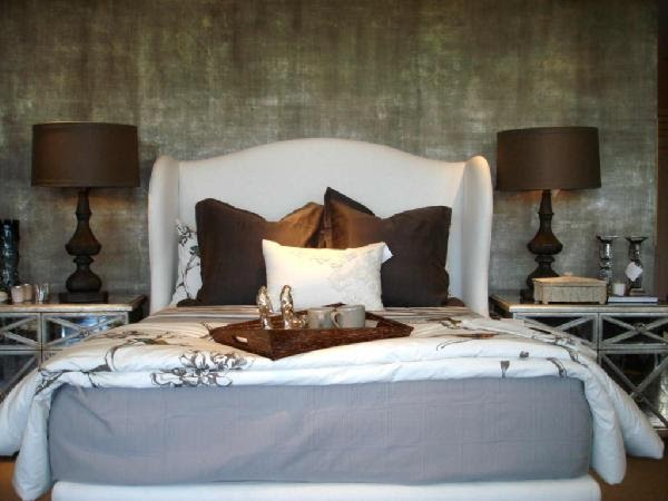 Swanky Swell Wingback Bed
