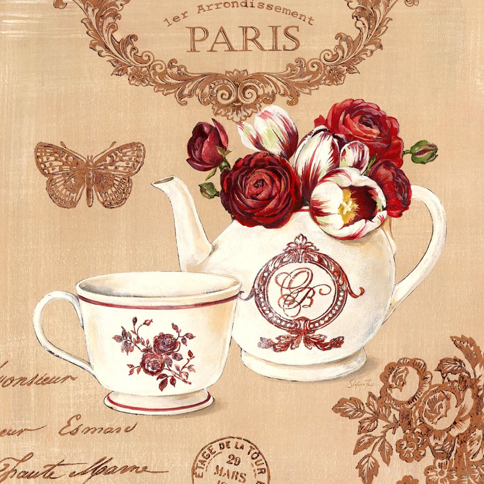 Vintage Posters For Kitchen Single Faucet Flower Art Style Kombin 5 Dekupaj Desenleri