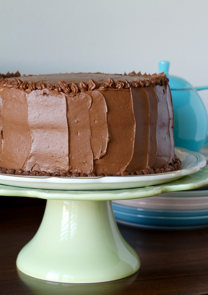 Espresso Chiffon Cake with Chocolate Buttercream Frosting ...