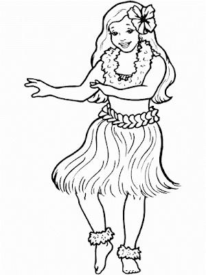 Gambar Mewarnai Wanita Cantik - 4