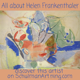 Famous Women Artists: Helen Frankenthaler read more on http://schulmanart.blogspot.com/2014/09/famous-women-artists-helen-frankenthaler.html