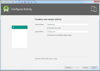 configurasi activity default aja
