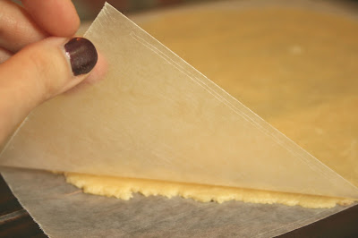 Separating the Dough from the Wax Paper