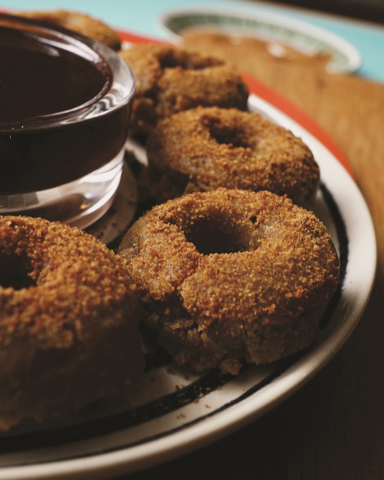 Gluten Free Doughnuts With Dark Chocolate Sauce