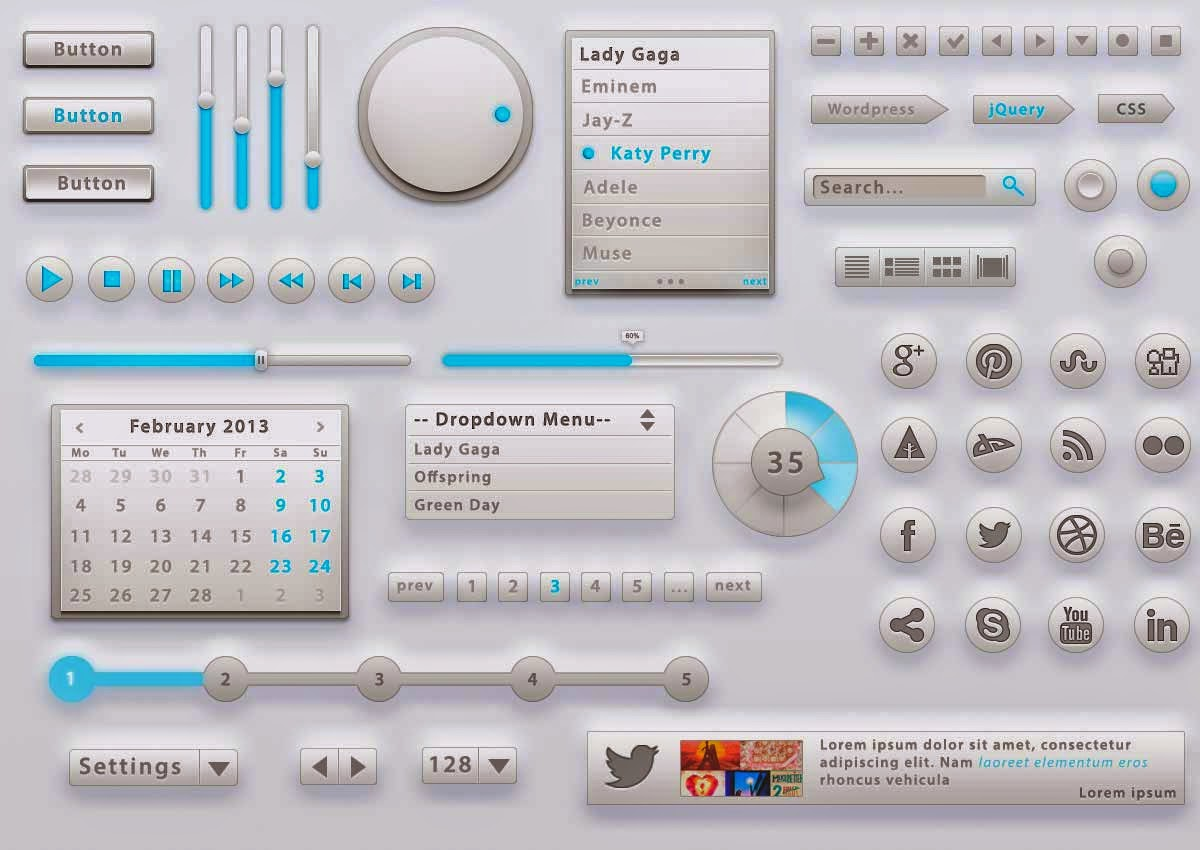 Light Grey UI Kit