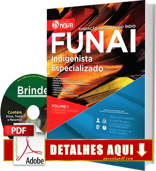 Apostila FUNAI 2016 Indigenista Especializado Impressa