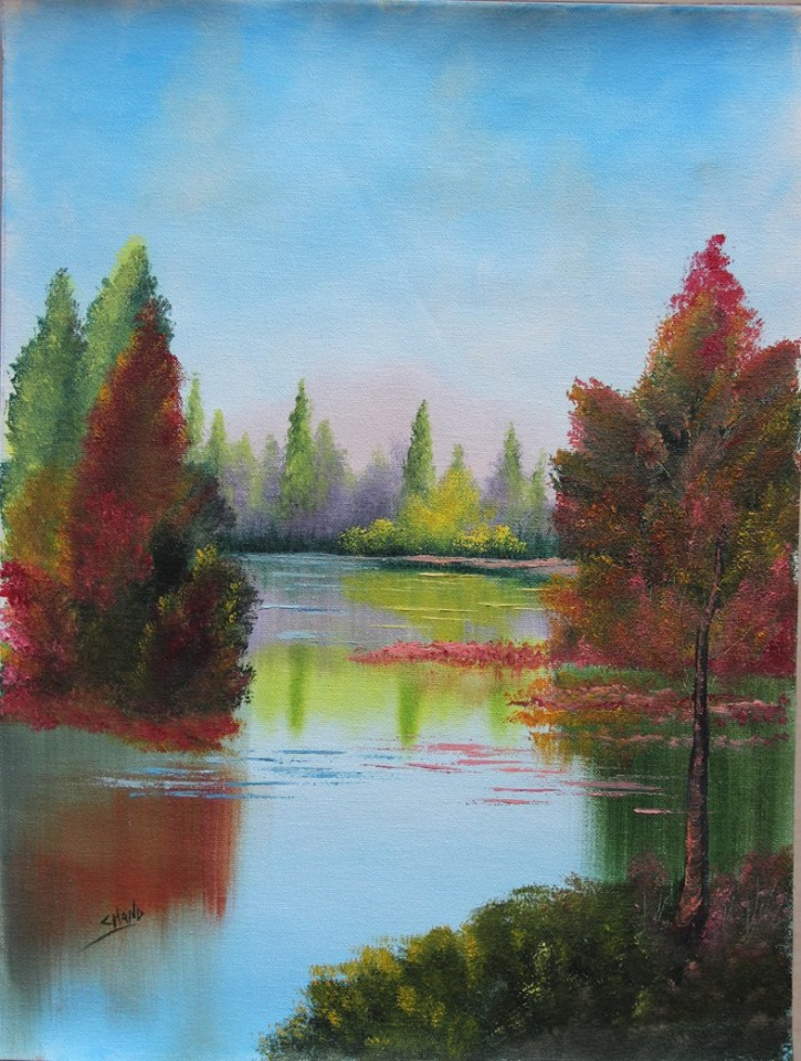 20 oil painting ideas diy happiest ladies for What paint for canvas
