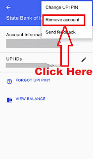 how can i delete my bank account in google upi tez app