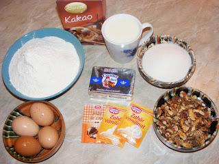 retete cu faina nuca unt lapte cacao si oua,