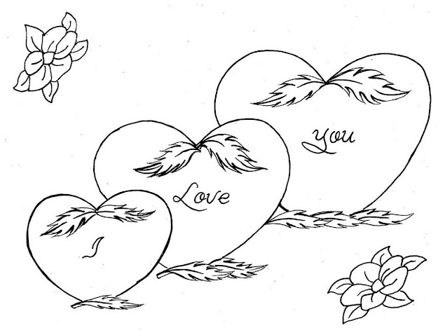 Love You Coloring Pages Free Download Large Size