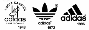 Logo Adidas dari tahun ke tahun