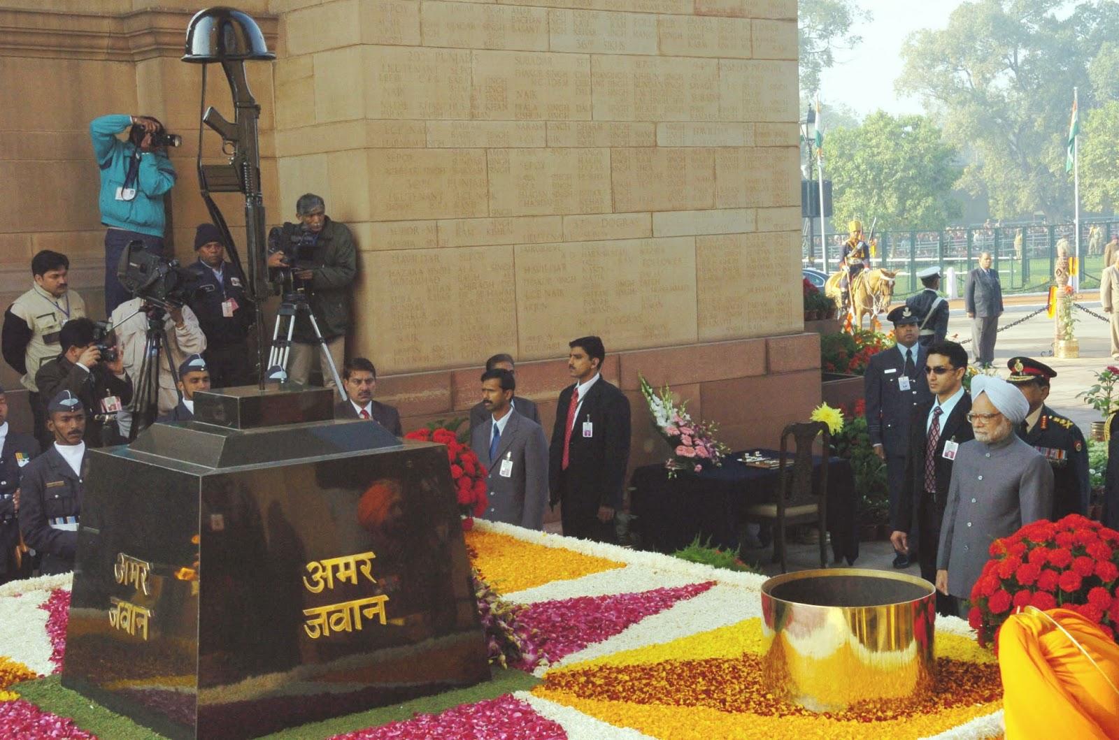 Amar Jawan Jyoti, India Gate Delhi