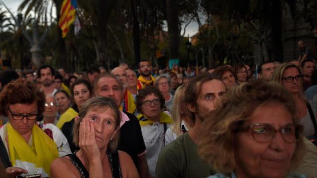 """Decepción entre independentistas catalanes: """"Nos han engañado"""""""