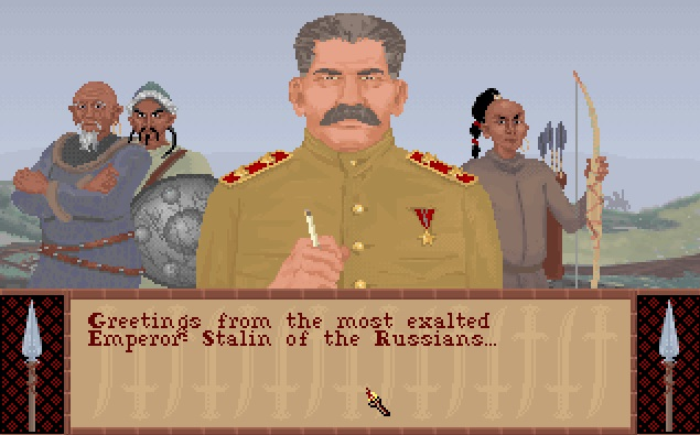 Screenshot of Stalin from Sid Meier's Civilization
