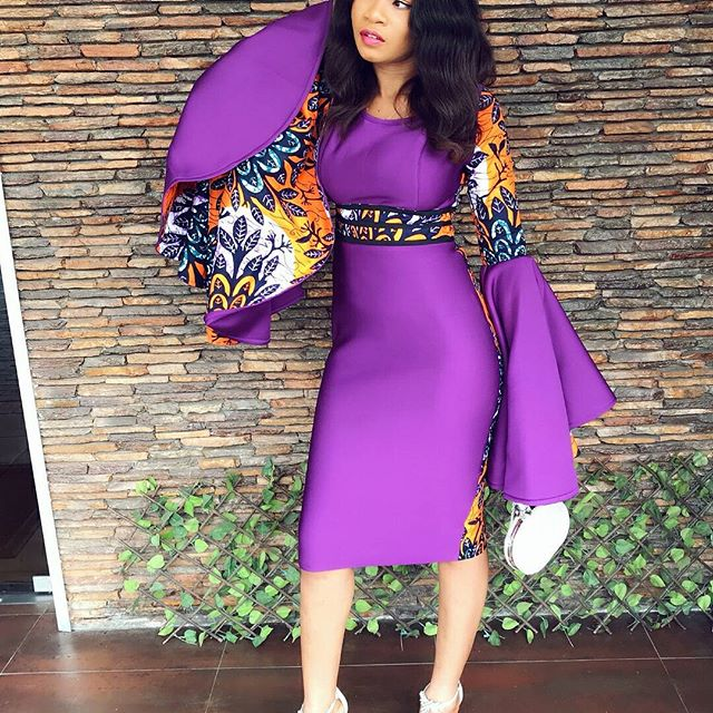 Super Stylish Ankara And Plain Material Gown Styles For