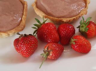 tartaleta de crema de fresas
