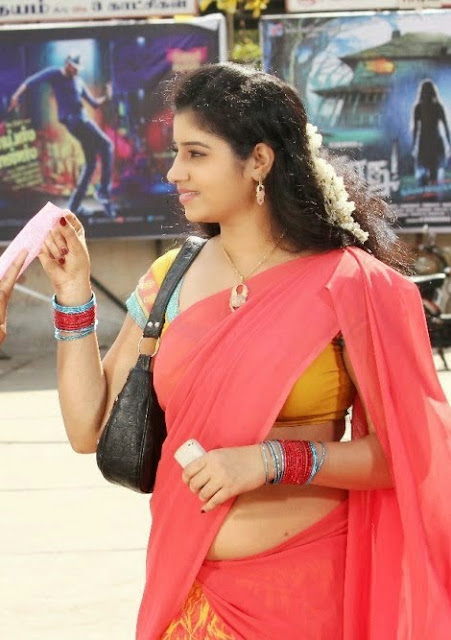 Actress Darshitha Latest Half Saree Hot Navel Show Stills