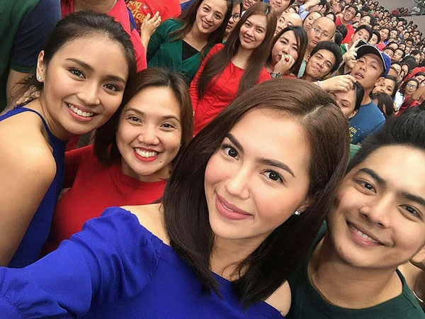Kathryn Bernardo and Julia Montes reunited for ABS-CBN Christmas Station ID 2016