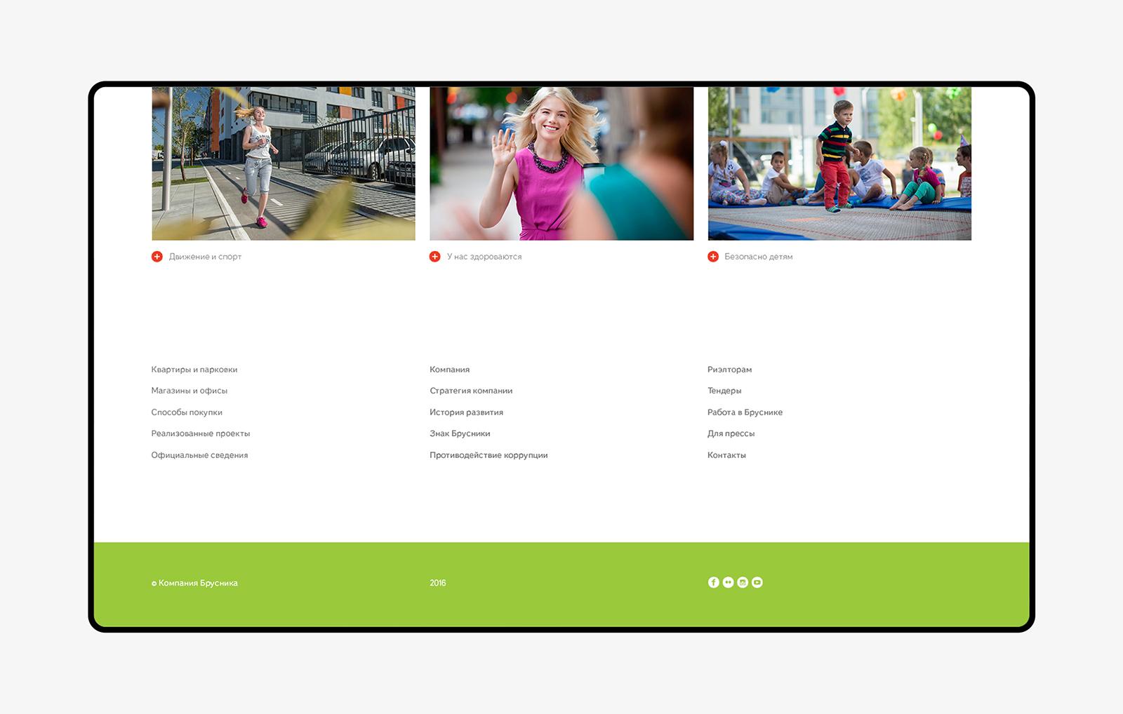 концепция сайта, девелоперская компания Брусника