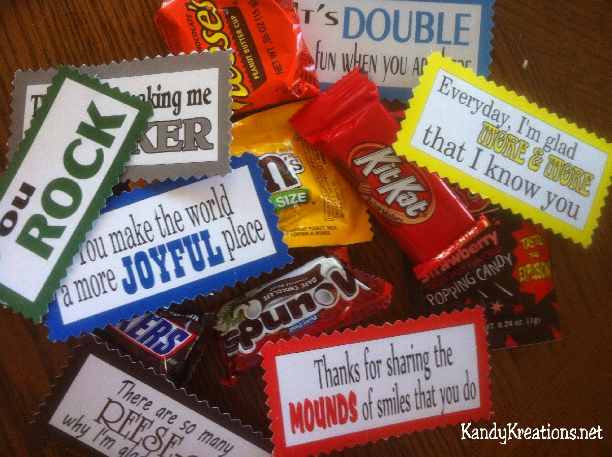 Candy Valentine Love Quotes