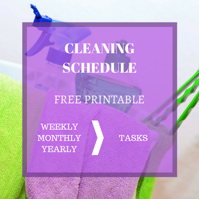 Cleaning Schedule - Free Printable