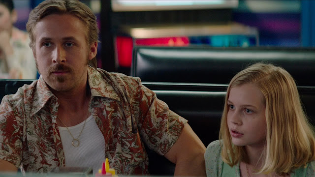 Gosling plays the father to Angourie Rice's precocious daughter